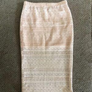 Boohoo lace midi skirt
